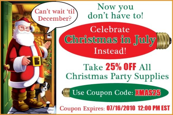 Christmas In July Party Supplies.Christmas In July Specials Cheap Party Ideas By Partycheap Com