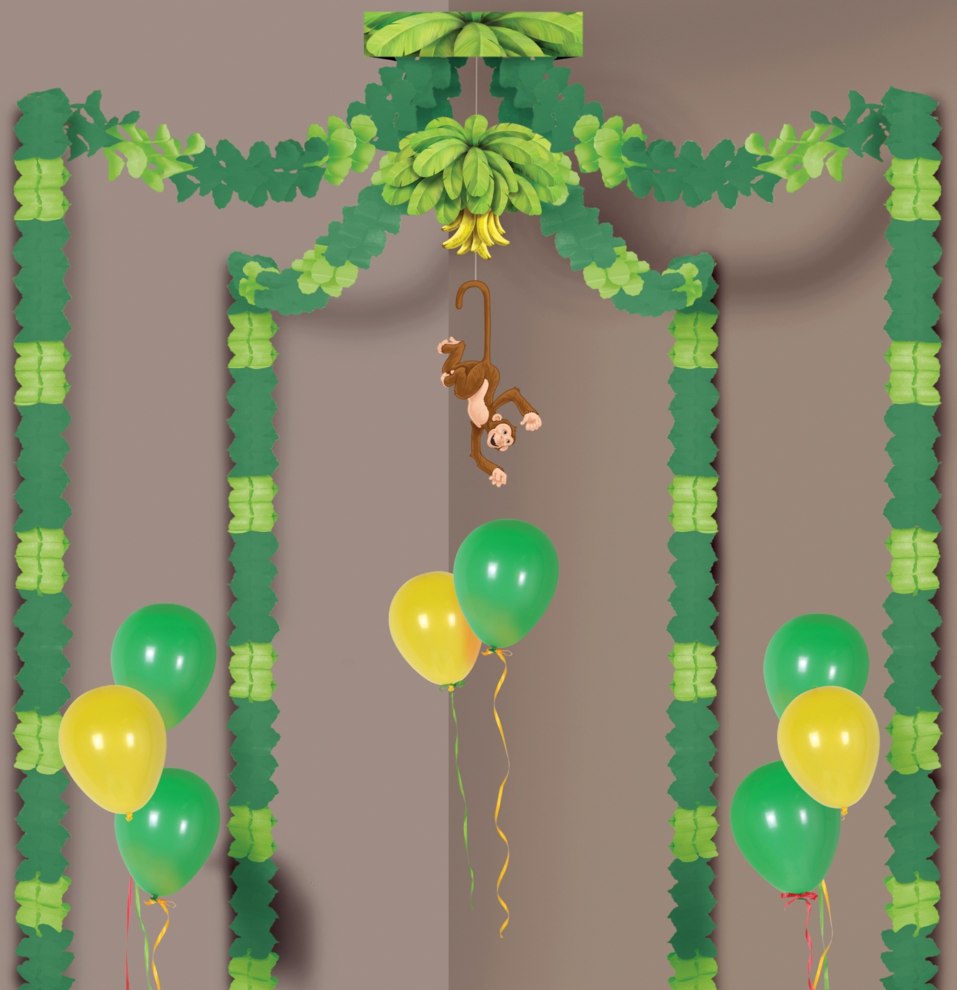 How to decorate for a jungle theme party cheap party for Decoration jungle